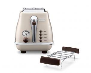 Icona Vintage Pastel Cream 2-Slice Toaster