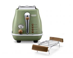 Icona Vintage Olive Green 2-Slice Toaster