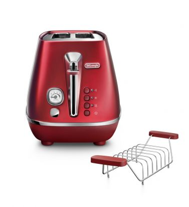 Distinta Flair Glamour Red 2-Slice Toaster