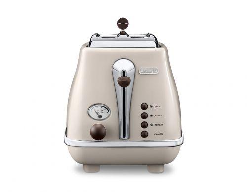 De'Longhi Icona Vintage Beige 2-Slice Toaster (Lid) thumbnail