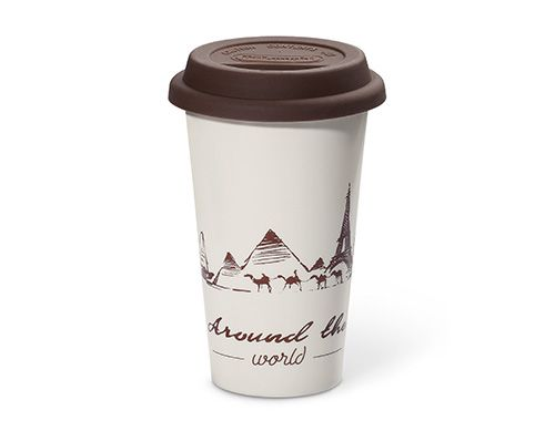 The Globetrotter Double-walled Ceramic Cup 300ml DLSC057 thumbnail
