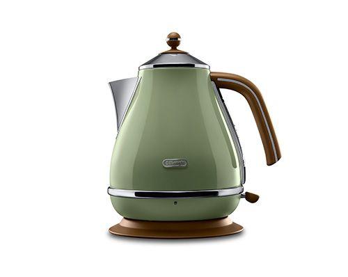Icona Vintage Olive Green Kettle 1.0L