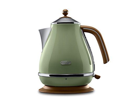 Icona Vintage Olive Green Kettle 1.7L