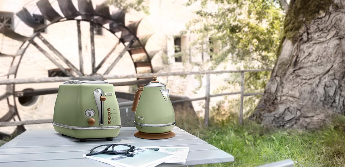 delonghi icona vintage toaster ctov2003 green