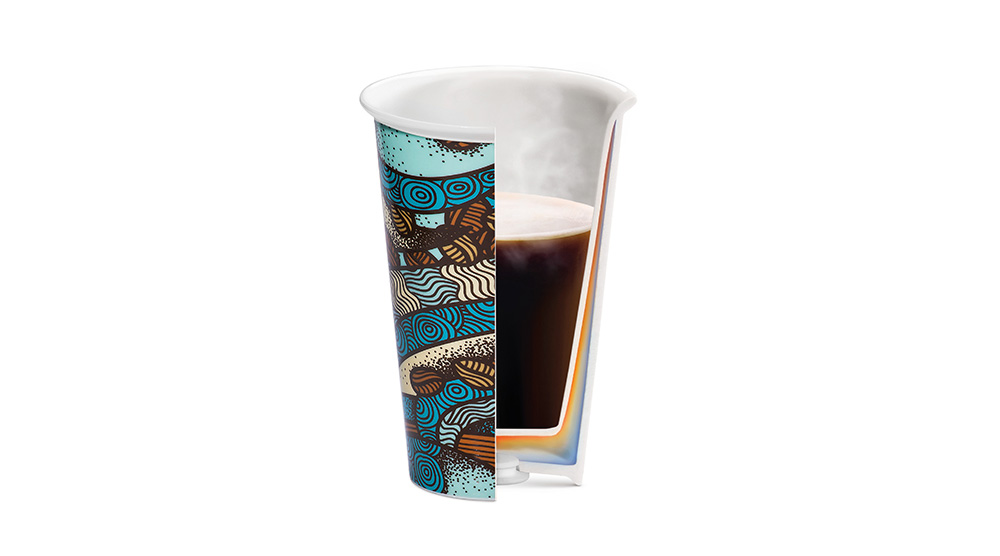 Delonghi coffee machine accessories the taster double wall ceramic cup DLSC055 feature 2