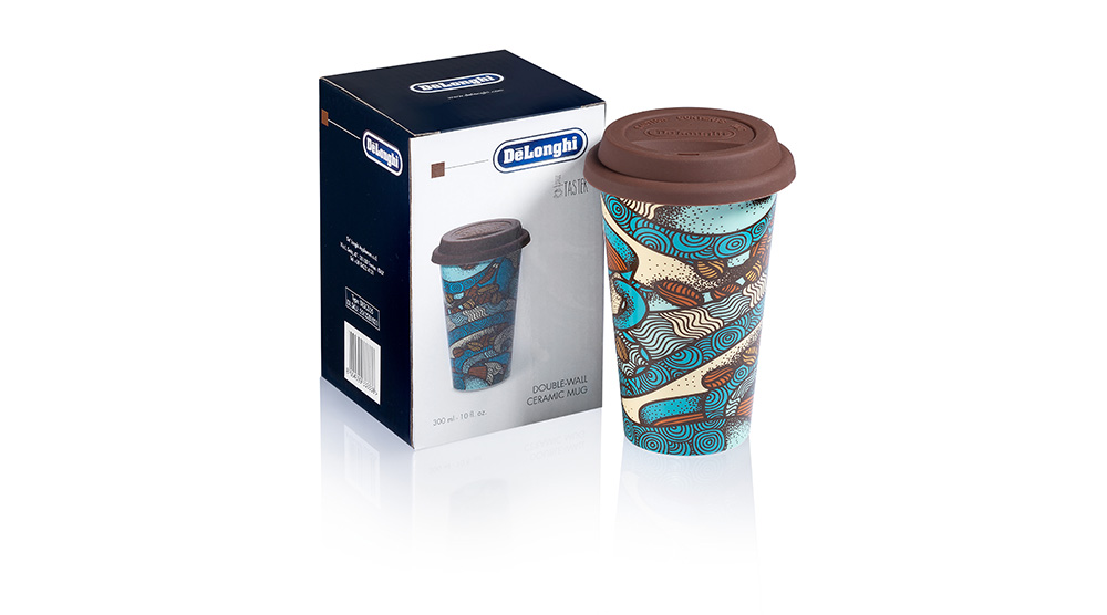 Delonghi coffee machine accessories the taster double wall ceramic cup DLSC055 feature 3
