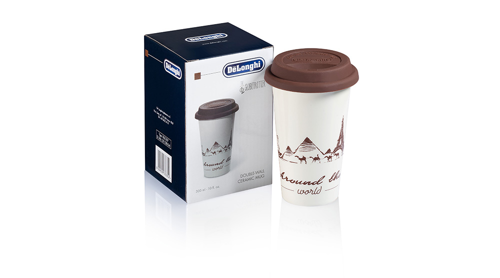 Delonghi coffee machine accessories the globetrotter double wall ceramic cup DLSC057 feature 3