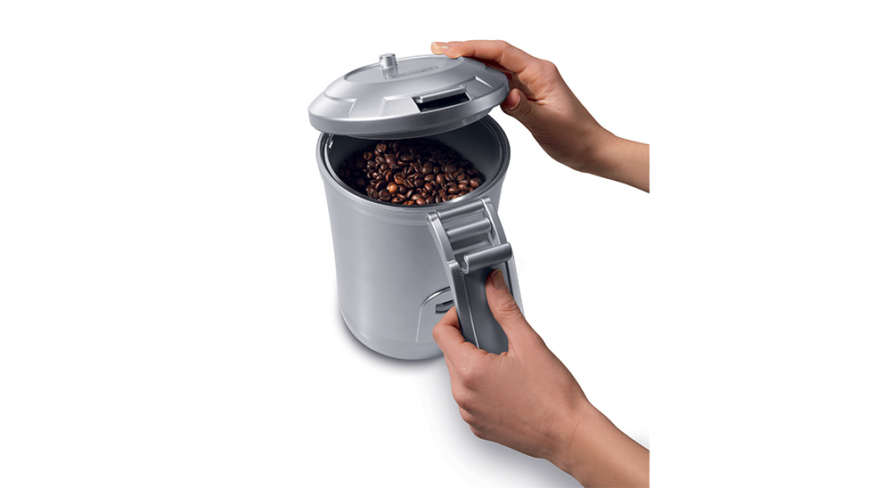 Delonghi coffee machine accessories vacuum sealed coffee beans canister 1.5l DLSC068 feature 2