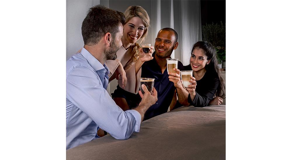 Delonghi coffee machine accessories double wall cappuccino glasses DLSC311 feature 3