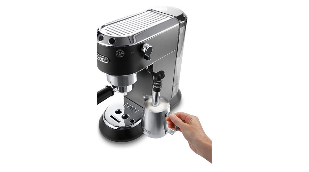 Delonghi dedica style charismatic black pump coffee machine ec685.bk features 10