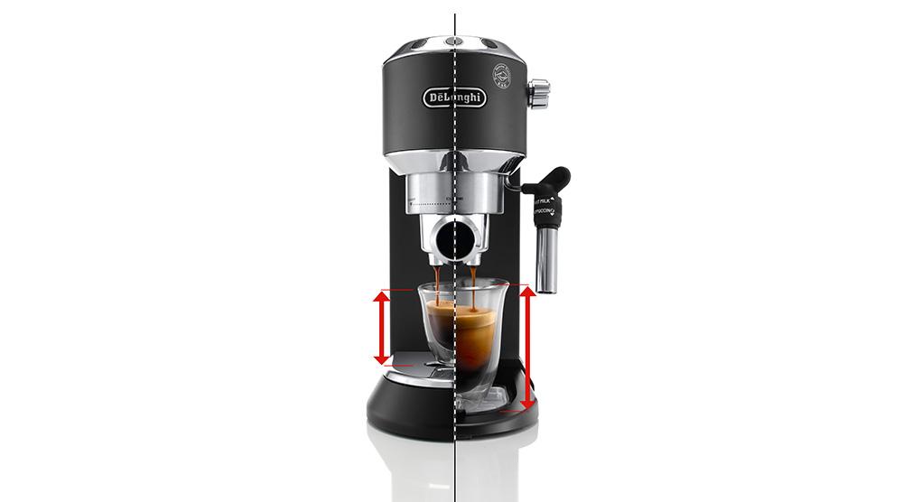 Delonghi dedica style charismatic black pump coffee machine ec685.bk features 5