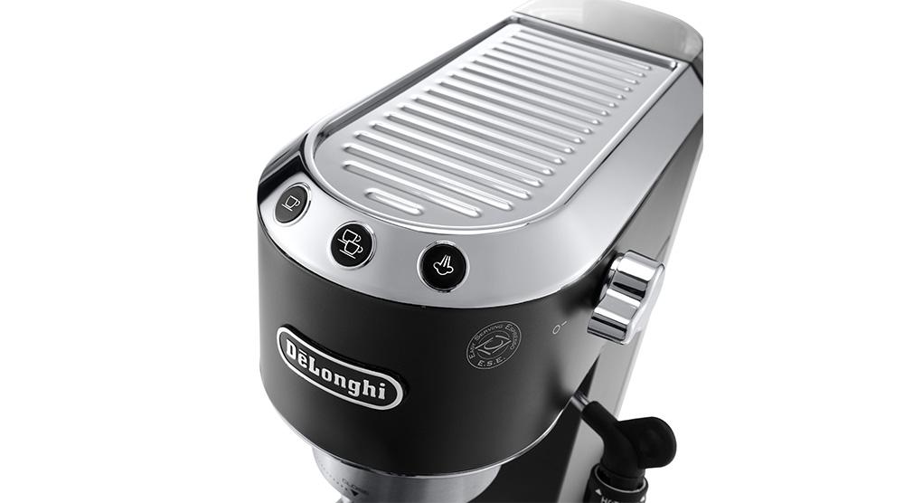 Delonghi dedica style charismatic black pump coffee machine ec685.bk features 6