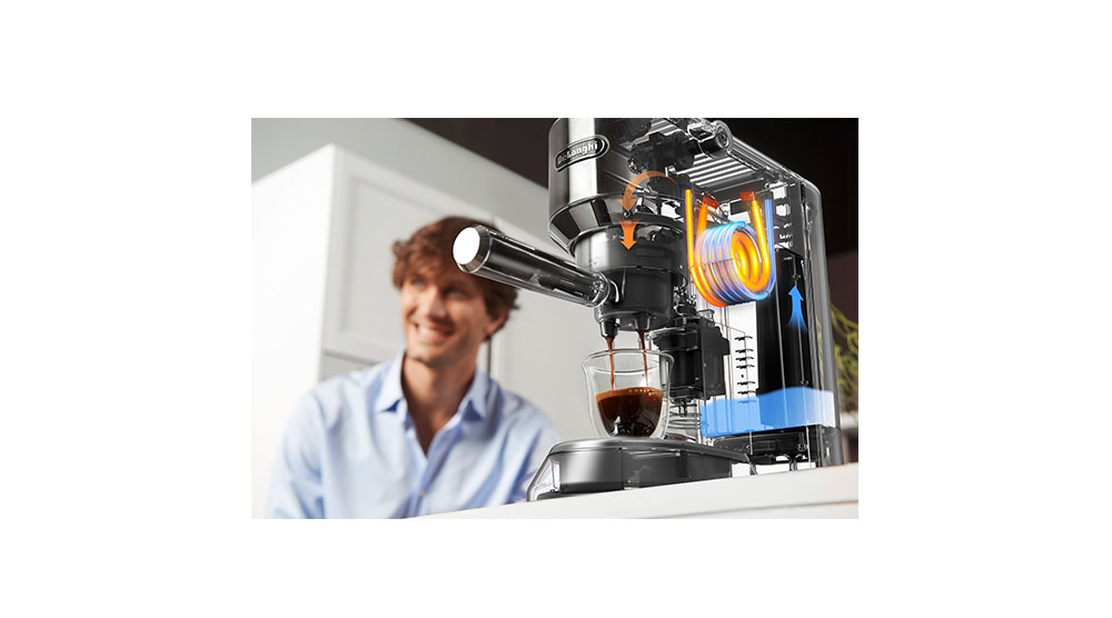 Delonghi dedica style pump coffee machine core technology features 1