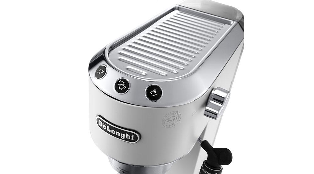 Delonghi dedica style white pump coffee machine features 7