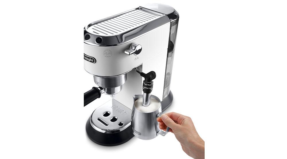 Delonghi dedica style white pump coffee machine features 9