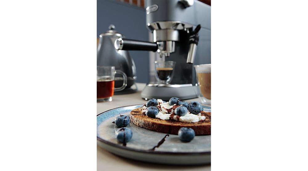 Delonghi dedica metallics pump coffee machine mesmerising azure features 1