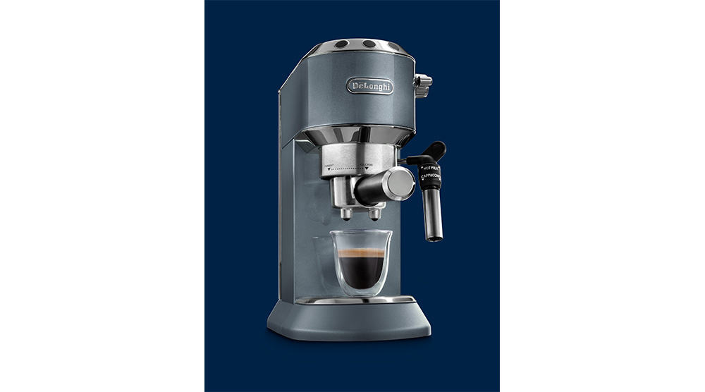 Delonghi dedica metallics pump coffee machine mesmerising azure features 6