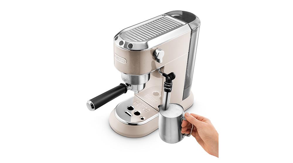 Delonghi dedica metallics pump coffee machine champagne beige EC785.BG features 10