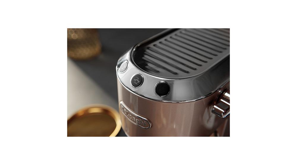 Delonghi dedica metallics pump coffee machine champagne beige EC785.BG features 6