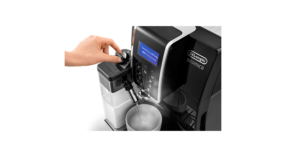 Delonghi coffee machine accessories milk clean features 1