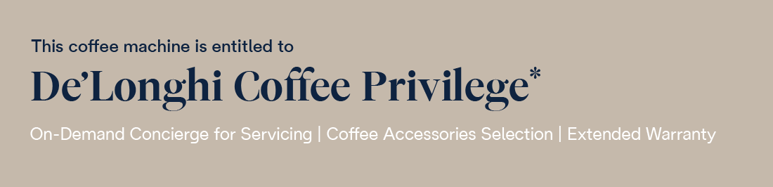 delonghi coffee privilege slim banner
