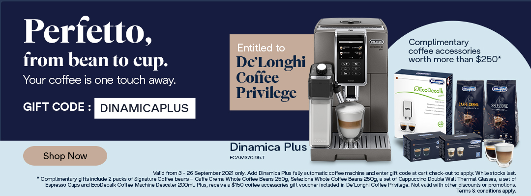 Dinamica Plus Special - Receive a complimentary coffee kit worth up to $250