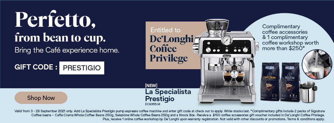 La Specialista Prestigio Special - Receive a complimentary coffee kit worth up to $250