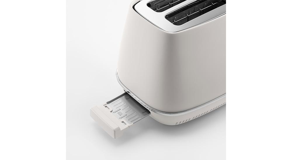 delonghi distinta moments toaster ctin2103 breadcrumbs tray easy lift