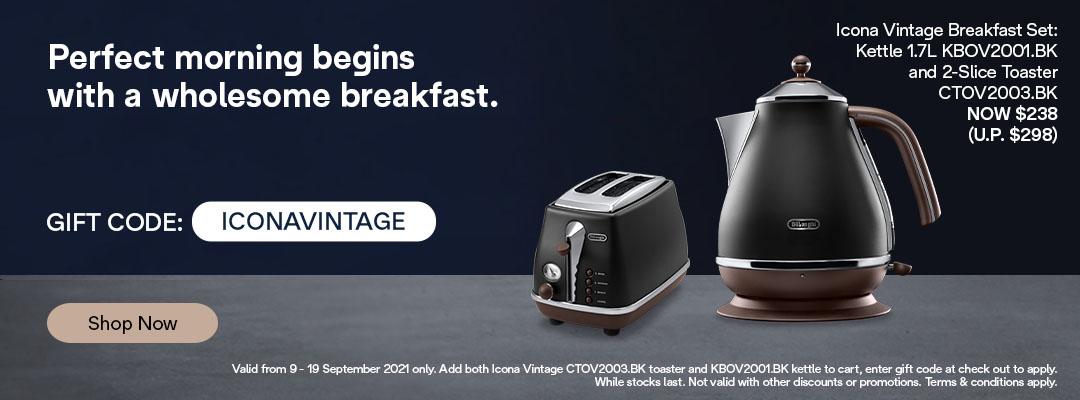 De'Longhi 9.9 Special - Receive $60 off Icona Vintage X Kettle & Toaster Set